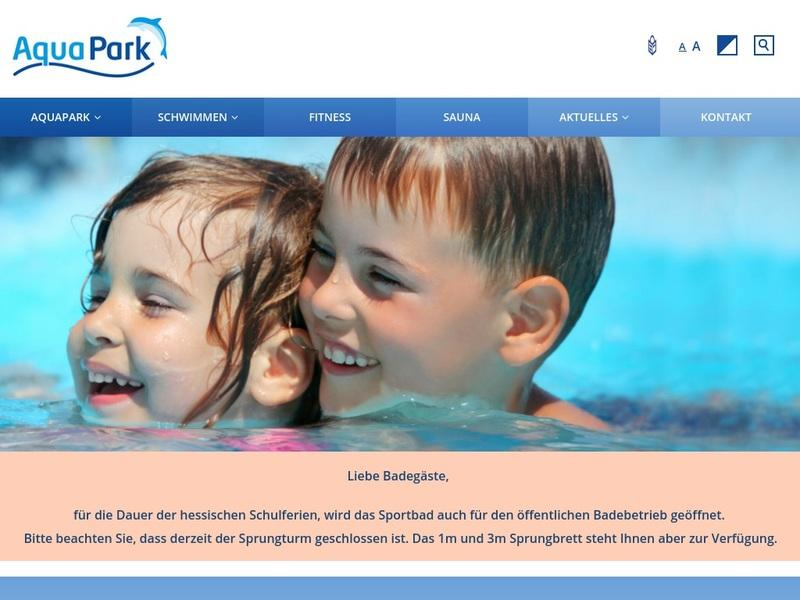 Screenshot von http://aquapark-baunatal.de